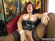 Massive Booby Mature Milf Sexy Vanessa Fucks Herself With Dildo