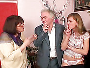Horny Grandpa Fuck A Big Natural Teen In A Wild Amateur House Gr