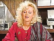 Nerdy Blonde Whore Fucks Her Coworker In The Restroom