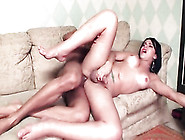 Tgirl Jerks Off And Cums With A Cock In Her Mouth