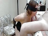 Bondage Blindfolded Cock Sucking And Pussy Pumping With Poor Slu