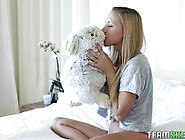 Pretty Blonde Teen Meets Her Real Life Bunny To Fuck