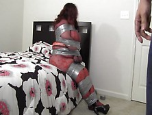 Bbw Encased In Pantyhose-She Knew He Was Hiding In Her Closet