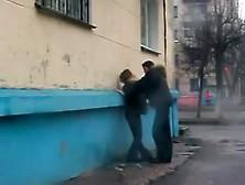 Very Drunk Girl Pees In Street