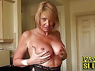 Mature Blonde Lady In Erotic Lingerie Seduced A Younger Guy And