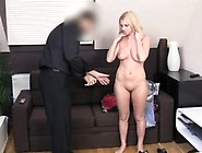 Fakeagent 18 Year Old Blonde Takes First-Ever Time Cumload