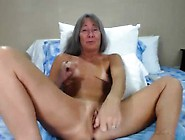Granny Leilani With Glasses Pounds Her Squirting Pussy