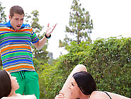 Teen Lola Foxx Makes A Fire With Her Stepmom India In Threesome