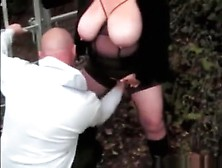Fat Big Boobed Girl Has A Dogging Session With A Stranger In The