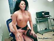 Busty Intern Candi Kayne Straddles Her Hung Boss