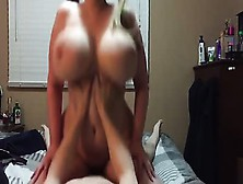 Chubby Teen With Huge Boobs And Pigtails Rides Cock