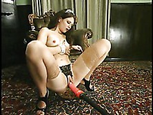 Lena Ramon In Crotchless Lace Black Panties And Sheer Nylons Get