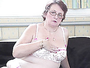Curvy Granny In Stockings Displaying Her Big Natural Tits In Bbw