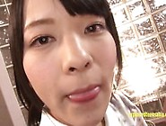 Jav Idol Abe Swallows Multiple Guys Cum Brushes Her Teeth With C