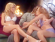 Jessica Drake And Stormy Share A Cock