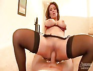 Sex-Starved Mom Rides Big Cock Fast
