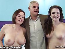 Immorallive Trio Amateur! Filles Aux Gros Seins Envenimeuses