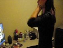 Girlfriend Dared To Strip For Stranger Online