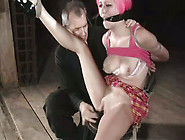 Spoiled Slut With Pink Hair Is Toy Fucked In Provocative Bdsm Po