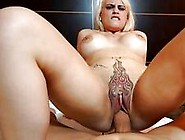 Slutty Blonde Latina Gets Fucked And Creampied By A Monster Cock