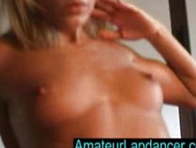 Horny Tanned Blonde Lapdance On A Huge Cock