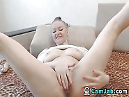 Cam Jab - Brunette Big Tits Babe Toying Live On Webcam