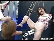 Two Asian Teens Shibari And Masturbation