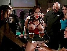 Sassy Girl Gets Bondaged On Her Tits And Hooked Up The Ass