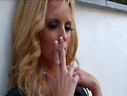 Lucy Zara Smoking Outdoors (Js)
