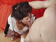 Brunette Mature With Huge Tits Sucks And Fucks