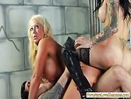 Threeway Bondage With Tranny Foxxy And Hot Milf Alura Jenson