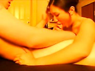 Asian Beauty Sucking Cock And Swallowing Cum