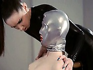Hungry Strapon Lesbians In Mask Playing