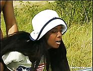 Bonny African Hooker Enjoyed Hard Sideways Pose Sex With Her Whi