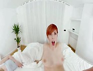 Redhead Babe Caomei With Nice Tits And Ass Taking A Fat Cock In