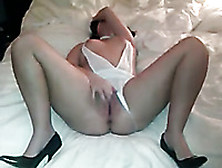 My Wife In Awesome Lingerie Passionately Masturbating