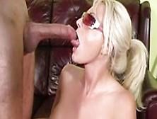 Nasty Blonde Babe Sindy Lange Enjoys Mouthfucking Big Fat Cocks