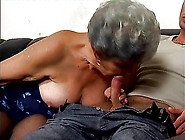 Grey Haired Granny Suck,  Fucks And Facialized