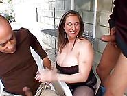 Huge Tits Slut In A Corset Has Sex With Two Big Dick Men