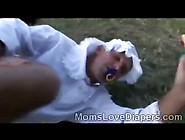 Horny Brunette Hottie Punishes Adult Babys Ass Outdoor