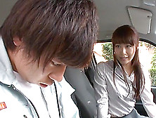 A Lucky Driver Car Fucks A Sexy Japanese Model In His Van