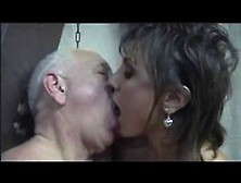 Silvia Bianco Fucks An Old Fat Dude,  Riding His Cock And Feeling