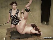 Blonde Female Sex Slave Is Ball Gagged And Fisted