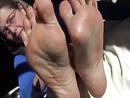 Simulated Footjob From Eager Older Woman
