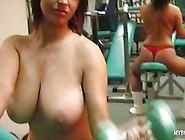 Busty Kora Kryk On Gym