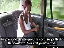 Cum Tasting Ebony Babe Gags On Cabbies Cock
