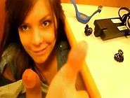Stunning Teen Under The Desk School Blowjob-Meet Her- Www. Sexpal