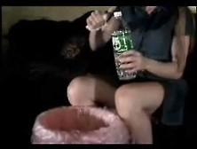 Cute Girl Vomit Puke Puking Vomiting Gagging Barf