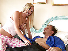 Sexy Blonde With Big Natural Tits Gets A Mouthful Of Cum