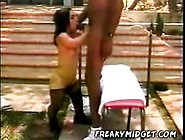 Black Dude Fucks His Midget Black Wife!